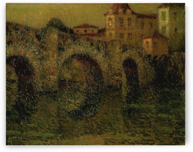 The Bridge at Twilight, Dinan by Henri Le Sidaner