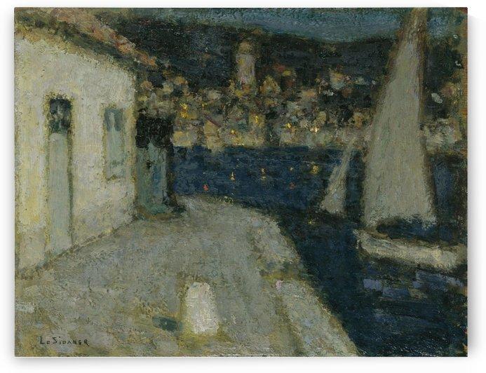 The Boats, Saint-Jean-Cap-Ferrat by Henri Le Sidaner