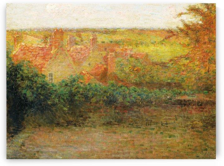 The Terrace, Sun, Gerberoy by Henri Le Sidaner