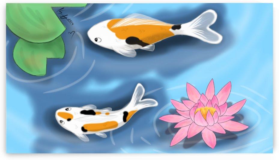 Cartoon Koi fish by Kate Jaxxon