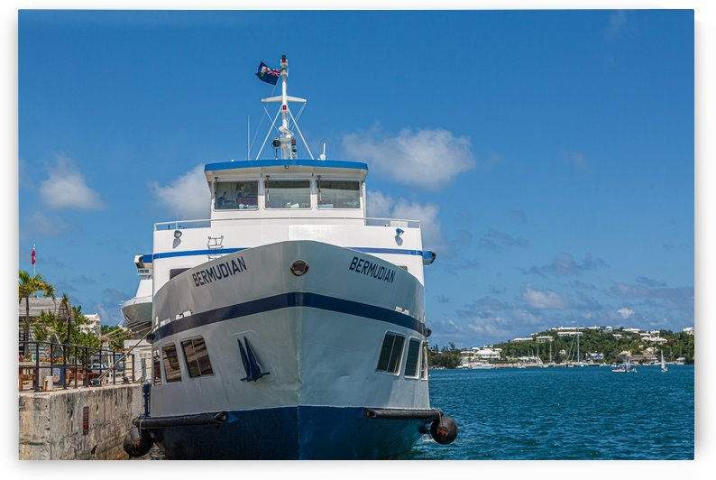 Bermudian Docked at Hamilton Bermuda by Darryl Brooks