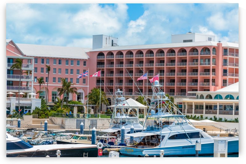 Harbor at Pink Hotel in Bermuda by Darryl Brooks