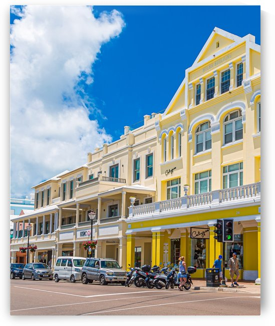 Yellow Shops in Bermuda by Darryl Brooks