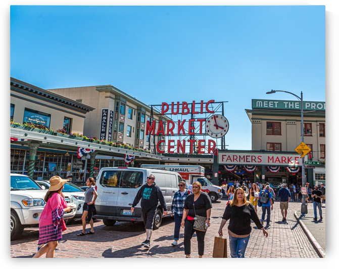 Crowds at Pike Place Market by Darryl Brooks