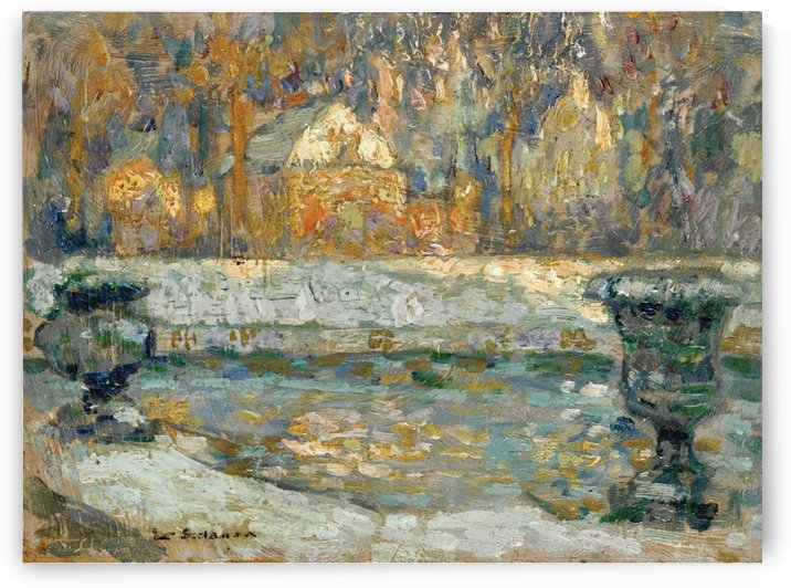 The Pool of Neptune at Versailles by Henri Le Sidaner