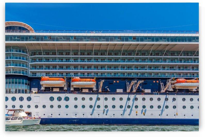 Tender Mooring on Cruise Ship by Darryl Brooks