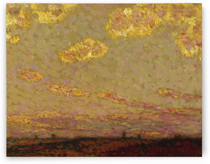 Sunset at Gerberoy by Henri Le Sidaner