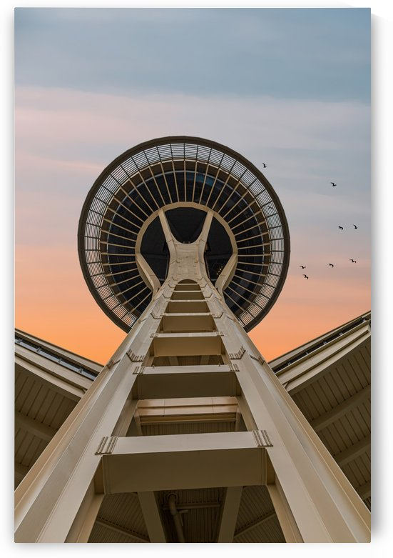 Space Needle at Dawn by Darryl Brooks