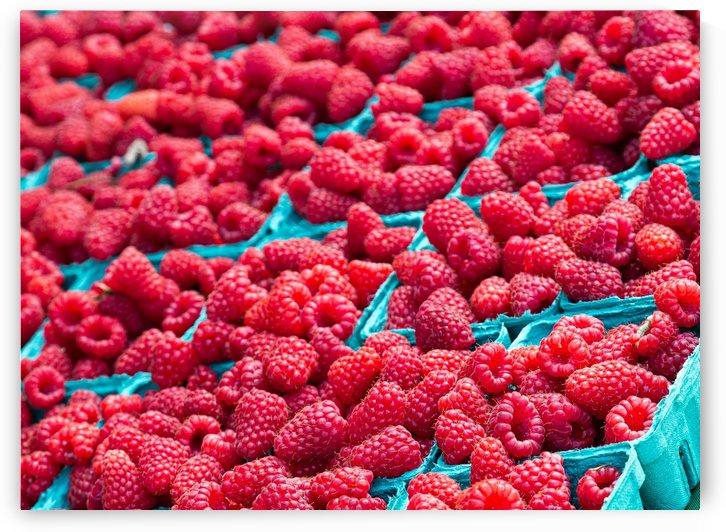 Rasberries in Blue by Darryl Brooks