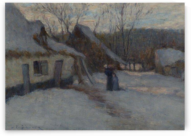 Snowy Landscape, Etaples by Henri Le Sidaner