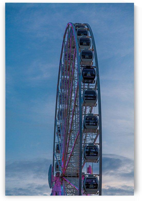 Seattle Great Wheel From Side by Darryl Brooks