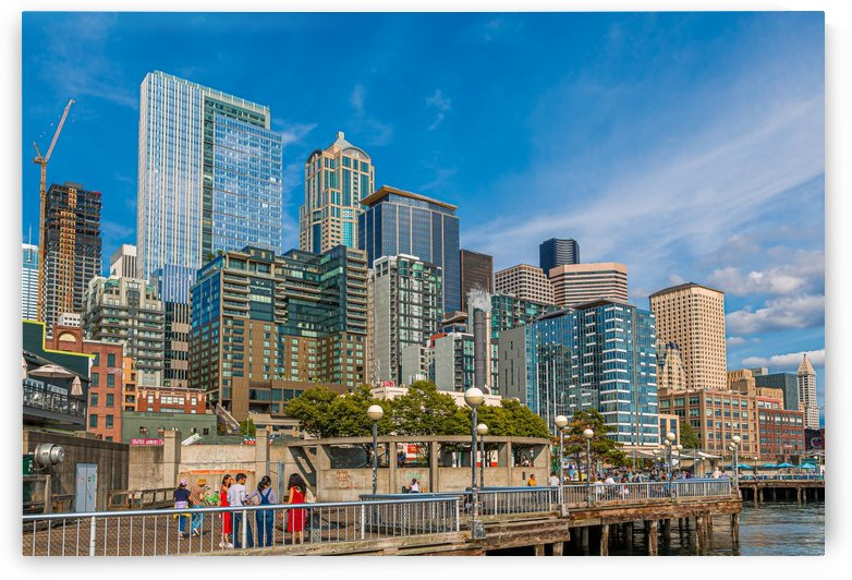 Seattle Skyline from Waterfront by Darryl Brooks