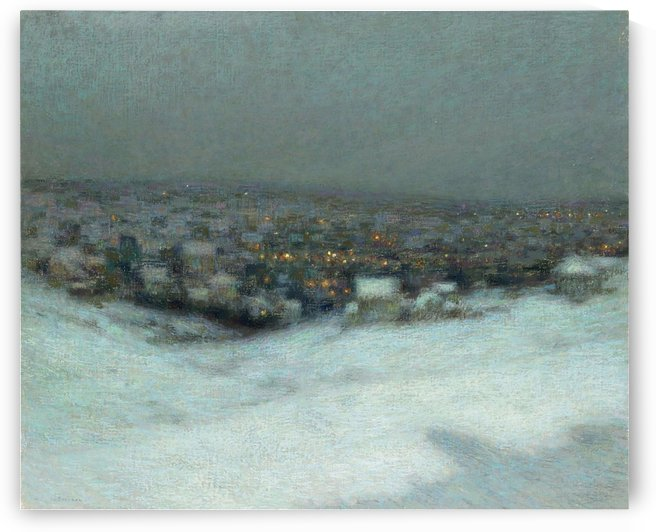 Snow under the Moon by Henri Le Sidaner