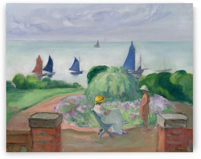 At the Terrace at Prefailles by Henri Lebasque