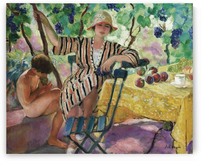The Garden at Summer (Pierre and Nono under the Grapes) by Henri Lebasque