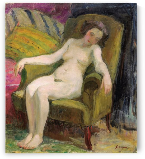 Nude in Armchair (2) by Henri Lebasque