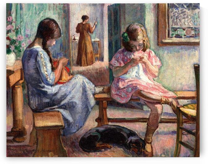 Sewing Girls by Henri Lebasque