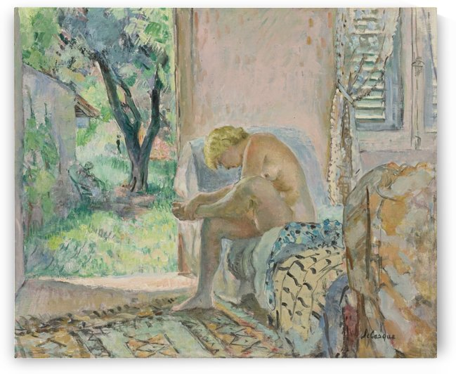 Sitting Nude by Henri Lebasque
