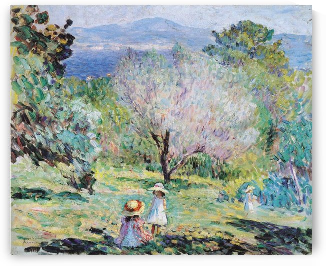 Young Girl in the Forest by Henri Lebasque