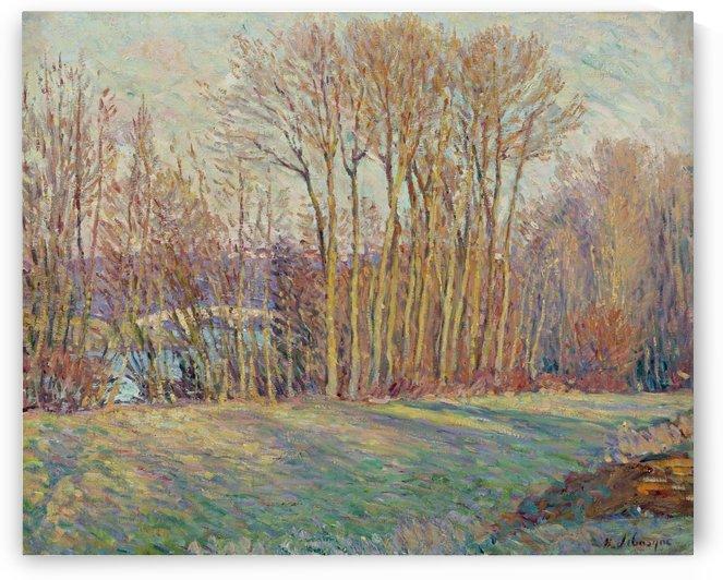 Poplars in Autumn near Chalifert by Henri Lebasque