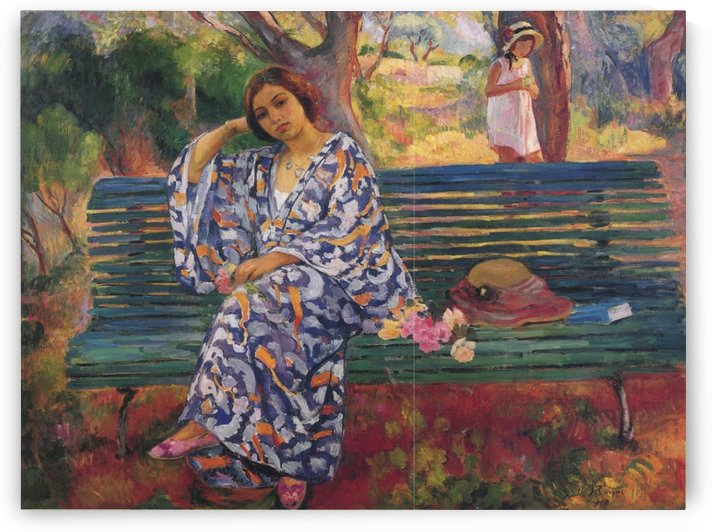 Young Woman Seated by Henri Lebasque