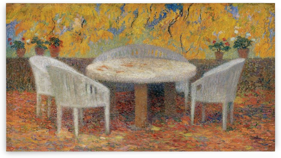 Under the Big Chest-Nut Tree of Marquyarol, Autumn by Henri Martin