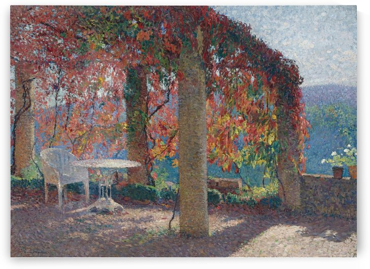 The Arbour in the Southwest of Marquayrol in Autumn by Henri Martin