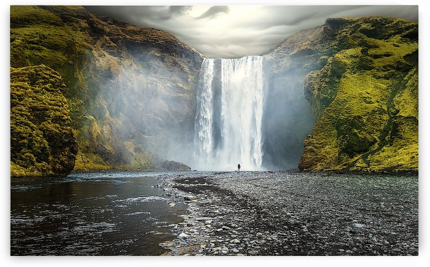 Skógafoss waterfall by AmilenaCollection