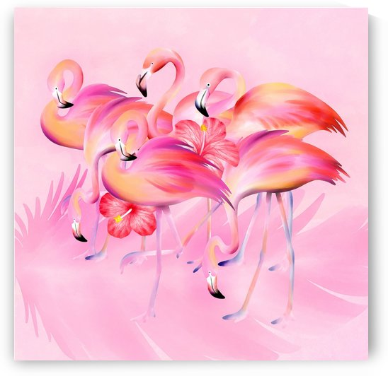 Pink Party Flamingos by HH Photography of Florida