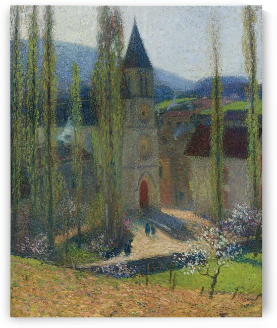 The Church of Labastide-du-Vert, Late Afternoon by Henri Martin