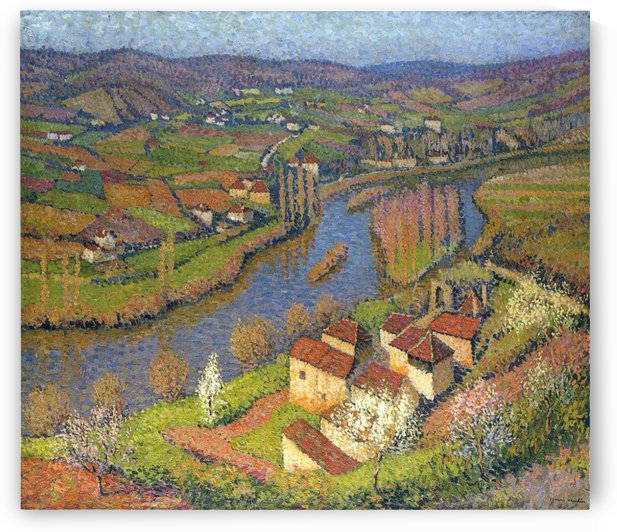 The Valley of Lot near of Saint-Cirq-Lapopie by Henri Martin