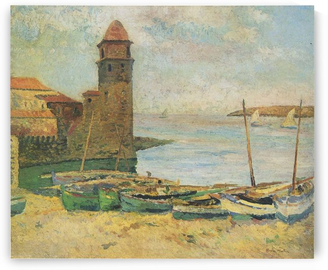 The Port of Collioure (2) by Henri Martin