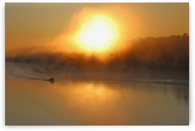 Fishermen Heading Out At Sunup by Deb Oppermann