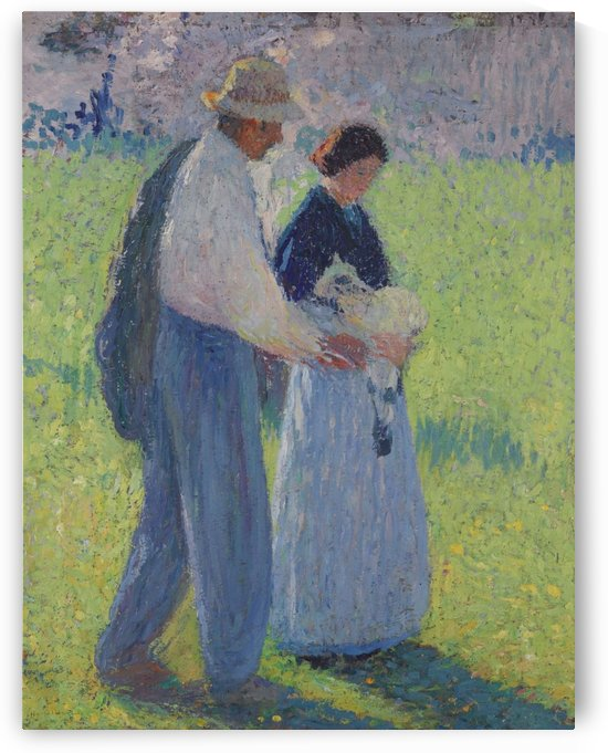 The Couple with a Lamb by Henri Martin