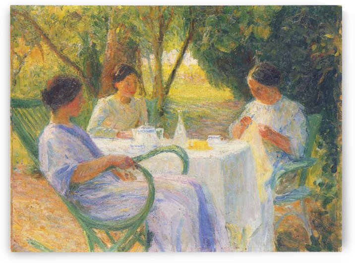 Three Women by Henri Martin
