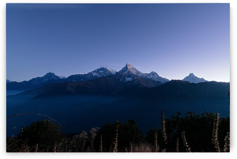 Annapurna mountain range at dawn by Em Campos