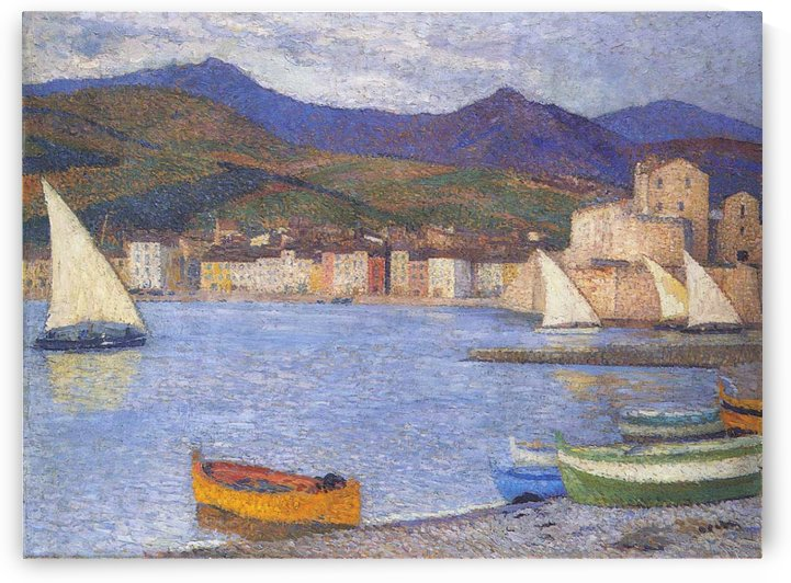 The Port of Collioure by Henri Martin