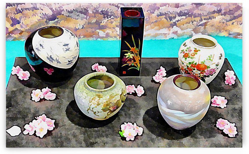 Japanese Vase Display by Dorothy Berry-Lound