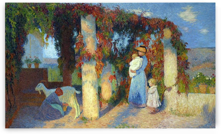 The Arbour at Marquayrol by Henri Martin