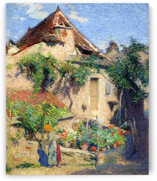 House and Garden at Saint-Cirq-Lapopie by Henri Martin
