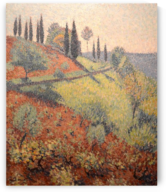 The Hill at Marqueyrol, View from the Artist's Studio by Henri Martin