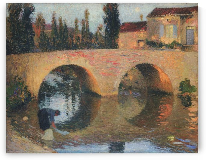 Laundress at the River Bank by Henri Martin