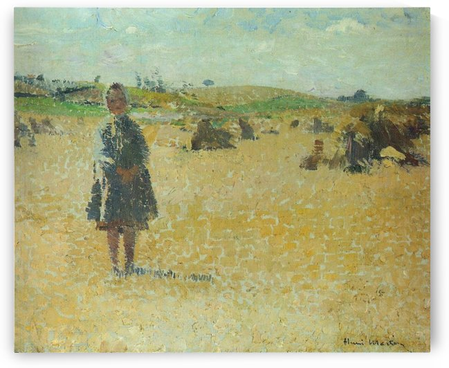 Young Girl in the Field by Henri Martin
