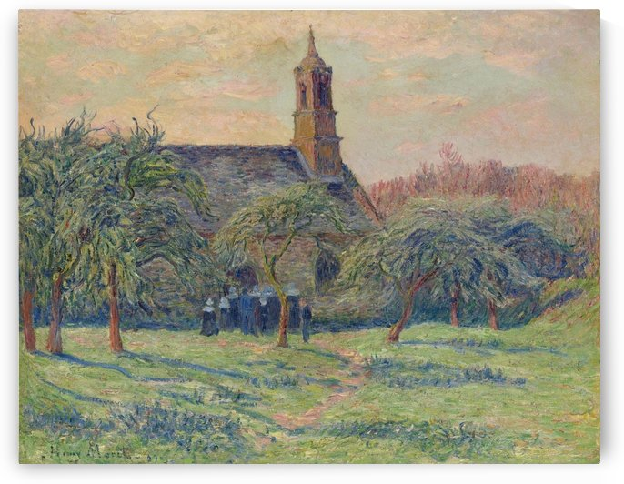 The Church of Clohars-Carnoet by Henry Moret