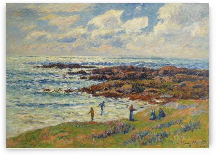 Gathering of Seaweeds at Nevez by Henry Moret