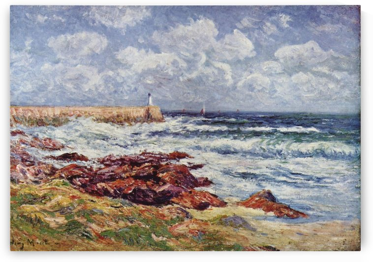The Sea with Pinnaces by Henry Moret