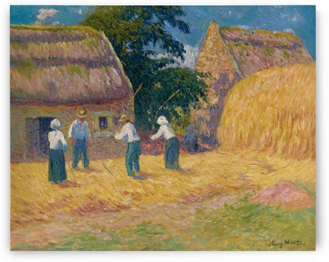 Threshing of Grain by Henry Moret
