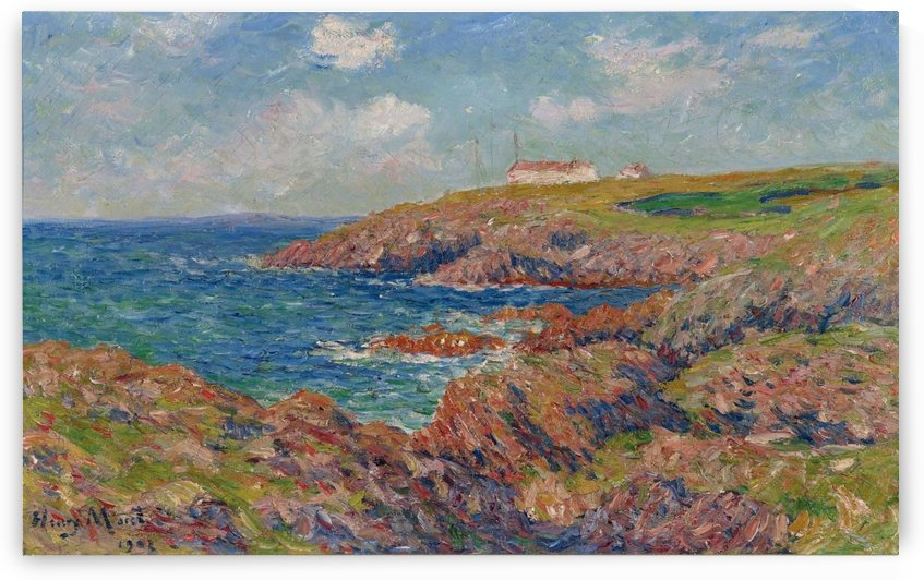 The Semaphore, Cote de Bretagne by Henry Moret