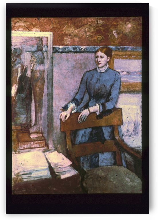 Hélène Rouart in her Father's Study by Hilaire-Germain-Edgar Degas