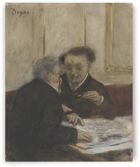 At the Café Châteaudun by Hilaire-Germain-Edgar Degas